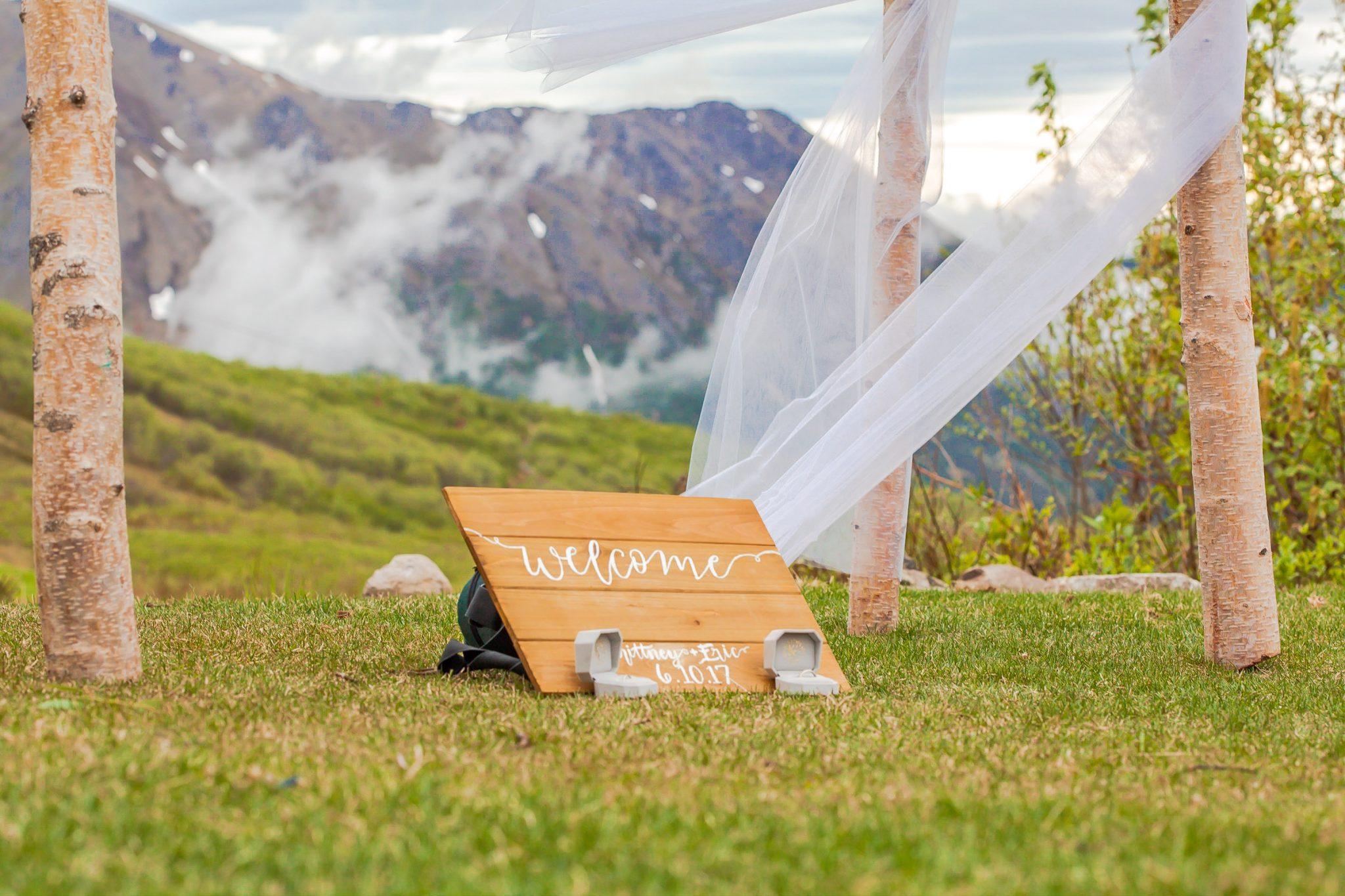 Dekorace pro svatbu na horách