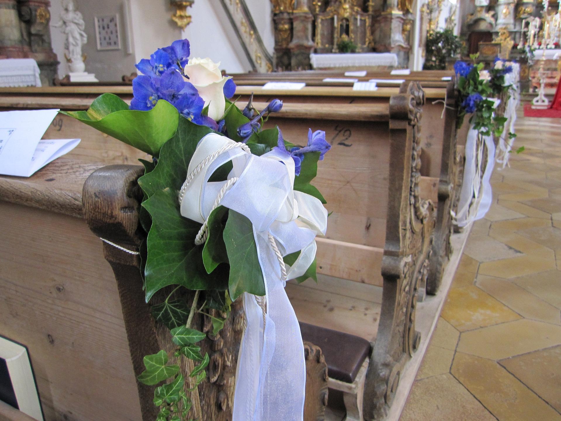Svatba v kostele - ozdoba